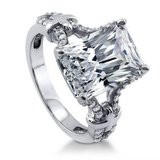 FINAL REDUCTION***7 CTTW Radiant Cut CZ Engagement Ring***SZ 9 in Kingwood, Texas