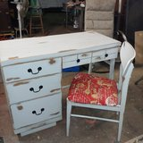 desk & chair. All wood. Shabby chic in Conroe, Texas