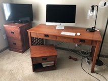 desk file cabinet chair and printer stand in Fort Belvoir, Virginia