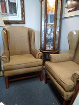 2 Dark Gold Wing Back Chairs in Naperville, Illinois
