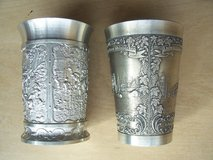 Two Pewter Wine Bechers in Mannheim, GE