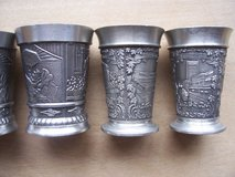 Six Pewter Schnapps Tumblers in Mannheim, GE