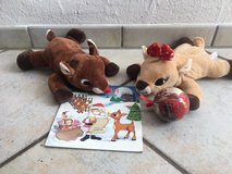 Stuffed Rudolph, Clarice and book in Stuttgart, GE