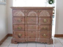 Pretty Pine Shell Carved Blockfront 4 Drawer Dresser/Chest in Bolingbrook, Illinois