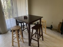 A Bar height kitchen table with 2 stools-reduced! in Kingwood, Texas