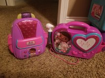 Doc McStuffin Plastic Backpack w/doctor tools and Play Radio in Fort Leonard Wood, Missouri