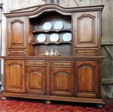 Solid Oak Buffet with Plate Rack in Ramstein, Germany