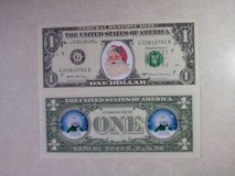 BRAND NEW COLORIZED NOVELTY SANTA CLAUS CHRISTMAS DOLLAR - SECOND DESIGN in Orland Park, Illinois