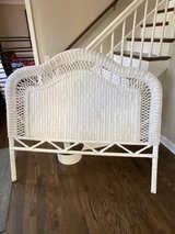 White wicker headboard queen/full in Naperville, Illinois