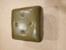 Leather green ottoman in St. Charles, Illinois