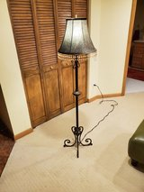 Black metal floor lamp in St. Charles, Illinois