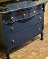 Blue dresser and mirror in Conroe, Texas