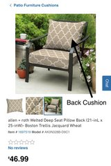 Outdoor Furniture Cushions (set of 4) great condition! in Fort Campbell, Kentucky