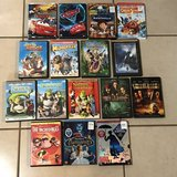 Lot of 51 Disney, Pixar and DreamWorks Kids DVD Movies EUC in Travis AFB, California