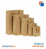 Kraft Paper Bags with handles available at iCustomBoxes in Cambridge, UK