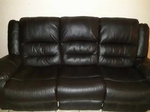 Brown leather recliner couches in Bellaire, Texas