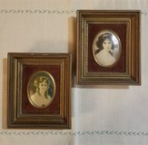 2 CAMEO CREATION MINIATURE PORTRAIT OF DUCHESS DE MONTESSQUE & HUBAK LADY in Ramstein, Germany