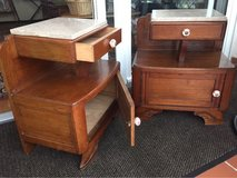 Vintage End Tables, Bedside Tables, Nightstands, Cabinets, Schranks, Night in Ramstein, Germany