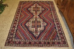 Mid Century Rug Vintage Carpet Hand Knotted 190 x 130 cm, 75 x 51 inch in Wiesbaden, GE