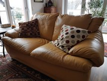 3 Piece Living Room Set (Couch, Loveseat, Chair) Italian Leather in Wiesbaden, GE