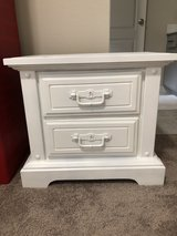 White nightstand in Conroe, Texas