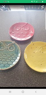 3 rustic owl plates in Westmont, Illinois