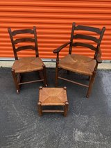 Country Chair, Rocker and Foot Stool in Cherry Point, North Carolina