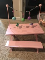 American Girl Charissa's picnic table & benches in Plainfield, Illinois