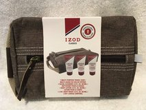 NEW IZOD Classics 4 Piece Mens Travel Kit Set Brown Case + Body Lotion + Body Wash + Cleanser in Plainfield, Illinois