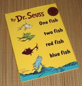 Vintage 1988 Dr Seuss One Fish Two Fish Red Fish Blue Fish RARE Collector Edition Over Sized Har... in Plainfield, Illinois