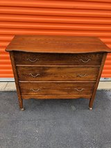 Antique Solid Oak Bow Top Dresser in Cherry Point, North Carolina
