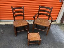 Antique Country Chair, Rocker and Foot Stool in Cherry Point, North Carolina
