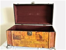 Small Domed Decorative / Display Wood Trunk in Fort Sam Houston, Texas