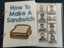 Adaptive book- How to make a sandwich in Warner Robins, Georgia