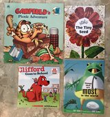 13 Books - Clifford, Garfield, Winnie the Pooh, Scholastic (1 Activity book) in Okinawa, Japan