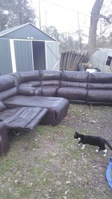 Real leather six piece Ashley sectional in The Woodlands, Texas