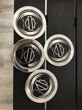 Harley metal coasters in Spangdahlem, Germany