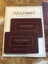 2 50$ SULLIVAN's Gift CARDS in St. Charles, Illinois