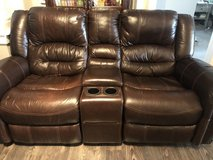 brown leather couches-reclining. in Wilmington, North Carolina