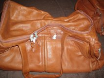 3 Piece Leather Travel Bags in Yorkville, Illinois