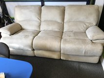 Micro fiber reclining sofa in Fort Lewis, Washington