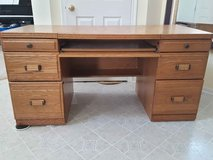 Oak Desk with Locking File Drawer in Naperville, Illinois