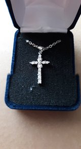 a new 925 sterling silver chains with cross in Pasadena, Texas