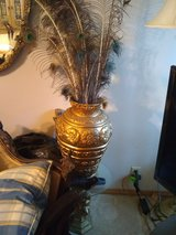 Beautiful lg gold color vase in Beaufort, South Carolina
