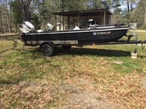 Great fishing boat with 50 horse Johnson. in DeRidder, Louisiana