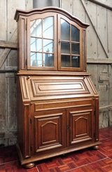 Oak Secretary Desk with Upper Cabinet in Ramstein, Germany