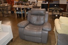 Grey Leather Recliner in Fort Lewis, Washington