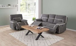 United Furniture - Recliner Set Ixelles as shown inc. del. - with Loveseat added $2810 in Baumholder, GE