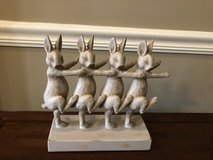 4 Bunnies Dancing the Bunny Hop Sculpture in St. Charles, Illinois