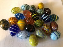"24 New Small Glass Multi-Colored Easter Eggs - 1"" x 1-1/2"" in Oswego, Illinois"